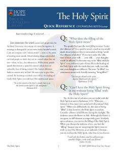 The Holy Spirit - Hope For The Heart