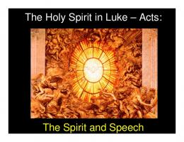 The Holy Spirit in Luke – Acts - nagasawafamily.org