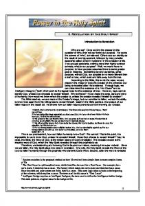The Holy Spirit in Revelation - Truthnet