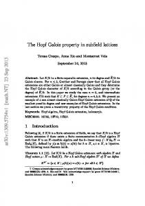The Hopf Galois property in subfield lattices