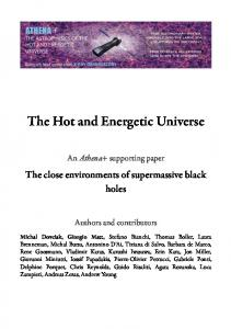 The Hot and Energetic Universe - arXiv