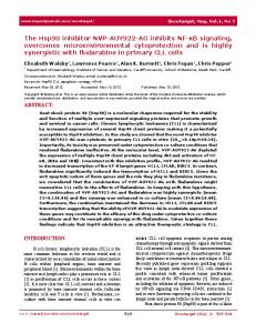 The Hsp90 inhibitor NVP-AUY922-AG inhibits NF-κB ... - CiteSeerX