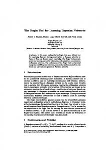 The Hugin Tool for Learning Bayesian Networks
