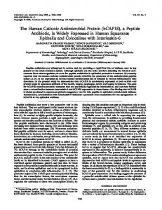 The Human Cationic Antimicrobial Protein (hCAP18) - Infection and ...