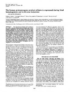 The human protooncogene product p33pim is expressed during fetal ...