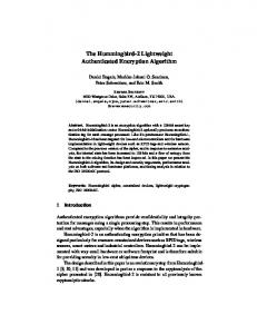 The Hummingbird-2 Lightweight Authenticated Encryption Algorithm