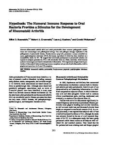 The Humoral Immune Response to Oral Bacteria ... - Springer Link