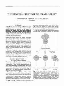 THE HUMORAL RESPONSE TO AN ALLOGRAFT ,I Lym ... - Nature