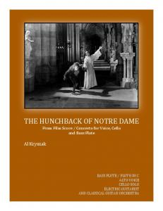 The Hunchback Of Notre Dame (FIlm Score)