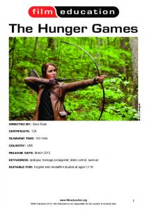 the Hunger games - Film Education