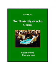 The Hunter System for Craps - Gamblers' Bookcase