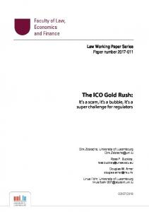 The ICO Gold Rush - SSRN