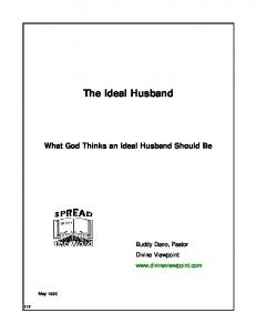 The Ideal Husband - Divine Viewpoint