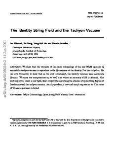 The Identity String Field and the Tachyon Vacuum
