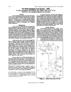 The IEE reliability test system - 1996 - Power Systems ... - IEEE Xplore