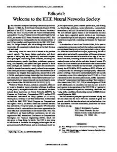 The IEEE Neural Networks Society - IEEE Xplore