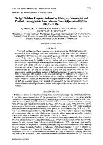The IgG Subclass Responses Induced by Wild ... - Semantic Scholar