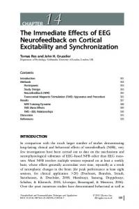 The Immediate Effects of EEG Neurofeedback on ... - BrainMaster