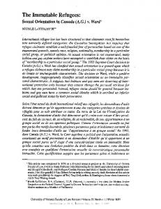 The Immutable Refugees - SSRN papers