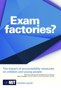 The impact of accountability measures on children and young ... - NUT