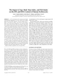 The impact of age, body mass index, and fish intake on ... - Springer Link