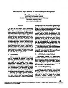 The Impact of Agile Methods on Software Project ... - Semantic Scholar