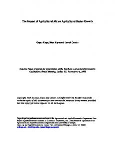 The Impact of Agricultural Aid on Agricultural Sector ... - AgEcon Search