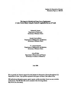 The Impact of Alcohol and Drug Use on Employment: A Labor Market ...