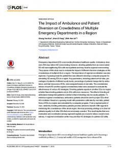 The Impact of Ambulance and Patient Diversion on