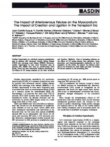 The Impact of Arteriovenous Fistulae on the ... - Wiley Online Library