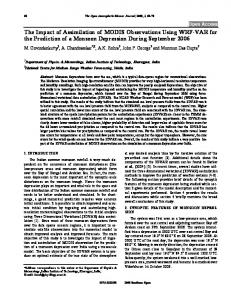 The Impact of Assimilation of MODIS Observations ... - Bentham Open