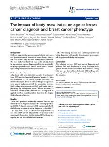 The impact of body mass index on age at breast cancer ... - Springer Link
