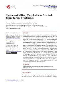 The Impact of Body Mass Index on Assisted ... - Semantic Scholar