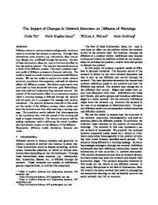 The Impact of Changes in Network Structure on ... - Computer Science