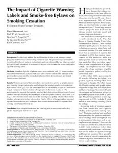 The Impact of Cigarette Warning Labels and Smoke-free ... - CiteSeerX