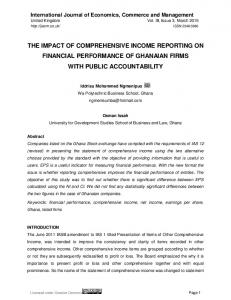 the impact of comprehensive income reporting on financial ... - IJECM