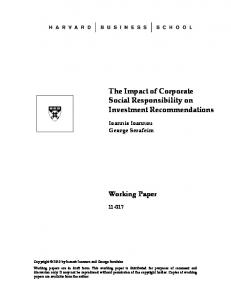 The Impact of Corporate Social Responsibility on ...