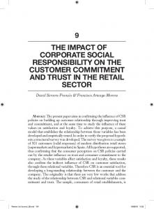 the impact of corporate social responsibility on the customer ... - RACO