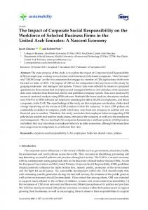 The Impact of Corporate Social Responsibility on the ... - MDPI