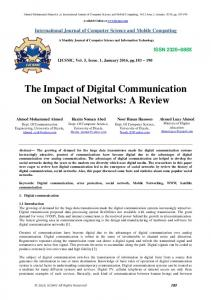 The Impact of Digital Communication on Social Networks: A Review