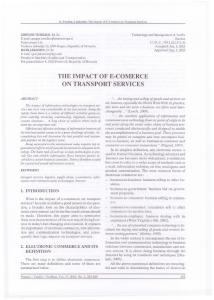 THE IMPACT OF E-COMERCE ON TRANSPORT SERVICES