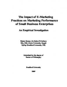 The impact of E-Marketing Practices on Marketing ...