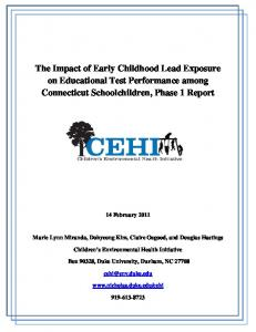 The Impact of Early Childhood Lead Exposure on ... - CT.gov