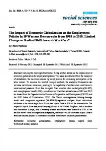 The Impact of Economic Globalization on the Employment Policies in ...