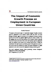 The Impact of Economic Growth Process on Employment in European ...