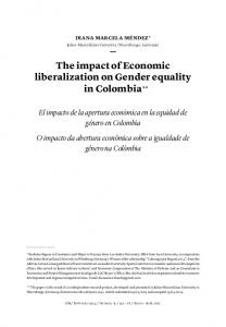 The impact of Economic liberalization on Gender ... - SciELO Colombia