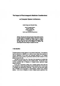 The Impact of Electromagnetic Radiation Considerations ... - CiteSeerX
