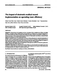 The impact of electronic medical record implementation ... - Sciedu Press