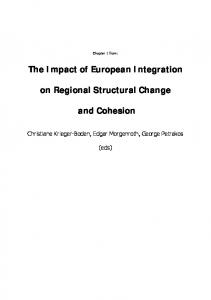 The Impact of European Integration on Regional Structural ... - CiteSeerX