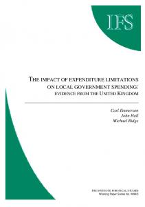 the impact of expenditure limitations on local government spending